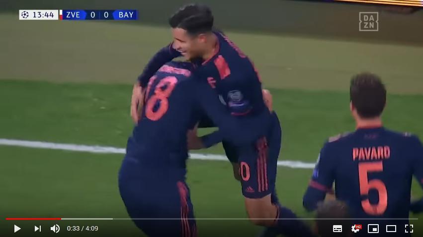 คลิปไฮไลท์ฟุตบอลยูฟ่า แชมเปี้ยนส์ ลีก เซอร์เวน่า ซเวซด้า 0 - 6 บาเยิร์น มิวนิค