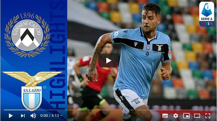 คลิปไฮไลท์ฟุตบอลกัลโช่ เซเรีย อา อิตาลี อูดิเนเซ่ 0 - 0 ลาซิโอ