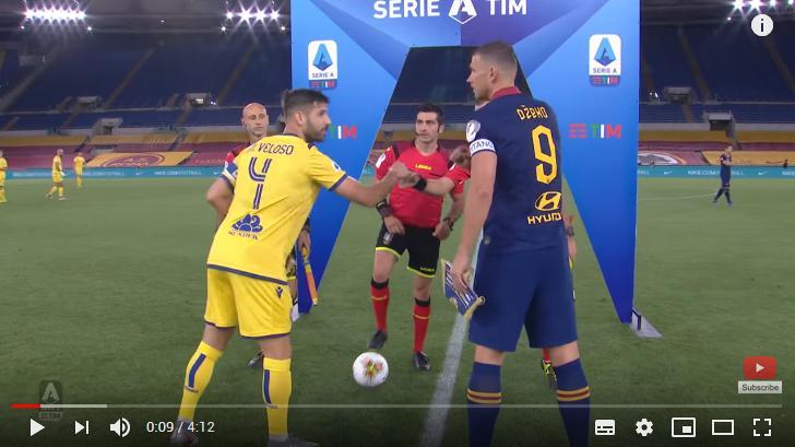 คลิปไฮไลท์ฟุตบอลกัลโช่ เซเรีย อา อิตาลี เอเอส โรม่า 2 - 1 เวโรน่า