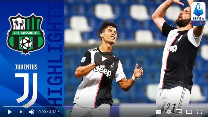 คลิปไฮไลท์ฟุตบอลกัลโช่ เซเรีย อา อิตาลี ซัสเซาโล่ 3 - 3 ยูเวนตุส