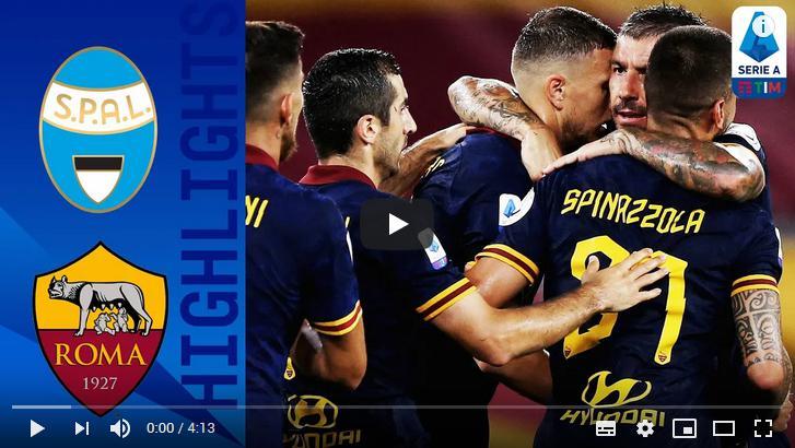 คลิปไฮไลท์ฟุตบอลกัลโช่ เซเรีย อา อิตาลี สปอล 1 - 6 เอเอส โรม่า