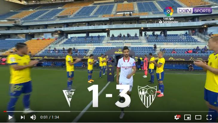 คลิปไฮไลท์ฟุตบอลลาลีกา สเปน คาดิส 1 - 3 เซบีย่า