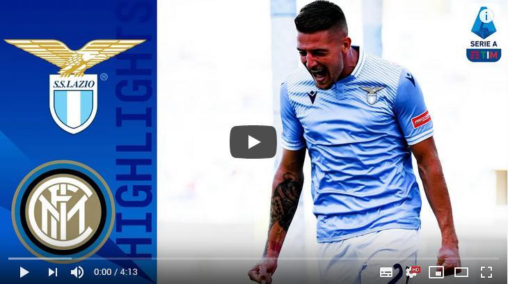 คลิปไฮไลท์ฟุตบอลกัลโช่ เซเรีย อา อิตาลี ลาซิโอ 1 - 1 อินเตอร์ มิลาน