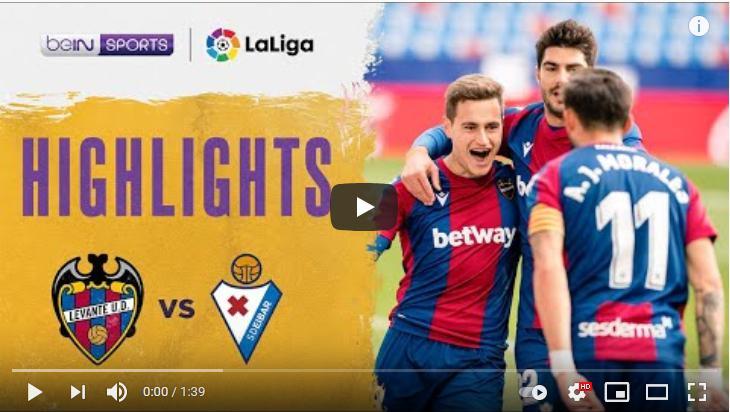 คลิปไฮไลท์ฟุตบอลลาลีกา สเปน เลบานเต้ 2 - 1 เออิบาร์