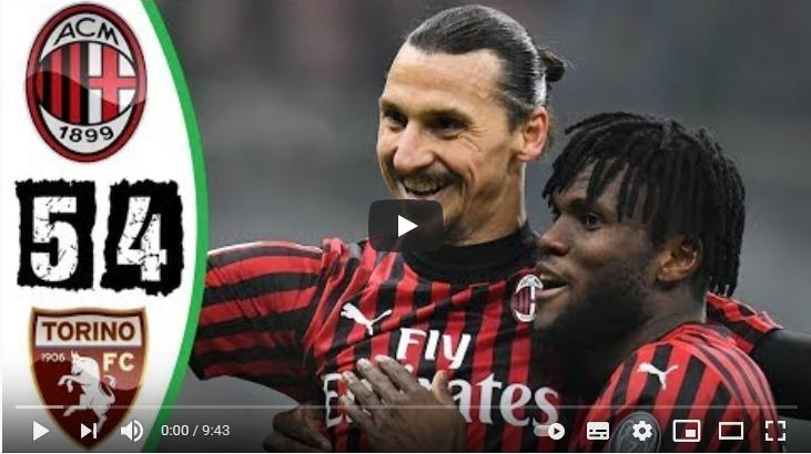 คลิปไฮไลท์ฟุตบอลโคปา อิตาเลีย คัพ เอซี มิลาน 0 - 0 โตริโน่ (*จุดโทษ 5-4)