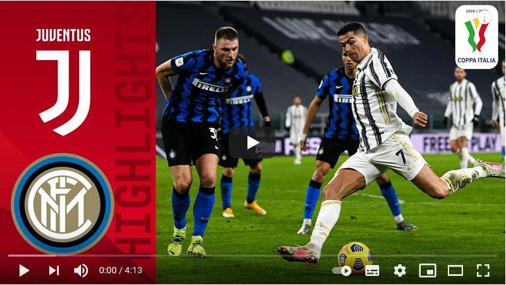 คลิปไฮไลท์ฟุตบอลโคปา อิตาเลีย คัพ ยูเวนตุส 0 - 0 อินเตอร์ มิลาน