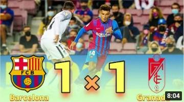 คลิปไฮไลท์ฟุตบอลลาลีกา สเปน บาร์เซโลน่า 1 - 1 กรานาดา ซีเอฟ