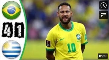 คลิปไฮไลท์ฟุตบอลโลกโซนอเมริกาใต้ บราซิล 4-1 อุรุกวัย